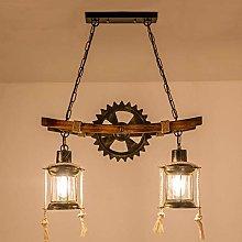 Pendant Lamp Vintage Hanging Lamp Wood E27 Retro