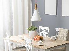 Pendant Lamp White Copper Colour Aluminium Bell