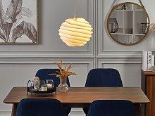 Pendant Lamp White Plastic Globe Shape Decorative