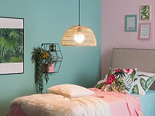 Pendant Lamp Wicker Rattan Bell Shape Hanging