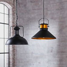 Pendant LED Light Black Modern Hanging Ceiling