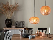Pendant Light Copper Metal Globe Lamp Sparkle