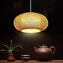 Pendant Light Natural Bamboo Rattan Hand-Woven