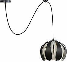 Pendant Lights, Adjustable Wire Black White Metal