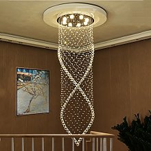 *Pendant Lights Stairs Rotating Crystal