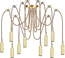 Pendant Lights with Bottle Glass Shade, Height