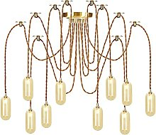 Pendant Lights with Glass Shade, Height Adjustable