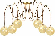 Pendant Lights with Globe Glass Shade, Height