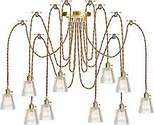 Pendant Lights with Switch, Glass Shade, Height