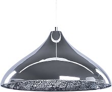 Pendant Silver Ceiling Lamp Light Metal Cracked