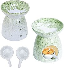Pendasu 2Pcs Ceramic Aroma Burners Holder Ceramic