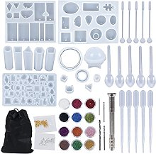 Pendasu 94pcs Silicone Casting Molds Tool Kit