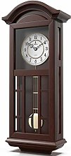 Pendulum Wall Clock Battery Operated - Quartz Wood