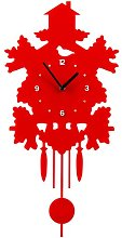 Pendulum Wall Clock Mercury Row Colour: Red