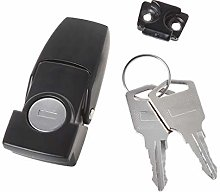 peng Cabinet Black Coated Metal Hasp Latch DK604