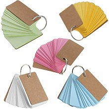 peng Kraft Paper Binder Ring Easy Flip Flash Cards