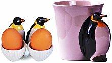 Penguin Animal Cup Ceramic Mug 3D Penguin Egg Cup