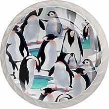 Penguin Cute Drawer Round Knobs Cabinet Pull