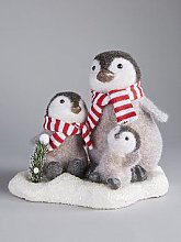Penguin Family Christmas Decoration