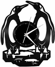 Penguin (G) vinyl wall clock, vinyl record home