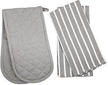 Penguin Home® - 3 Piece Oven Glove & Tea Towel