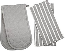 Penguin Home - 3 Piece Oven Glove & Tea Towel Set