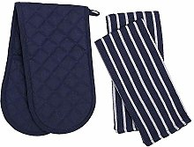 Penguin Home Oven Glove & Tea Towel Set - 100 %