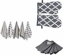 Penguin Home Tea Towel (Set of 5), Oven Glove (1