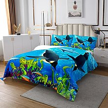 Penguin Quilted Coverlet Funny Animal Quilted