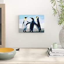 Penguins Painting Print Big Box Art