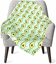 pengxuelinshop Nursery Bed Blankets,Cute Avocado