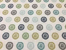 Penny Pistachio Circles Green/Blue Cotton