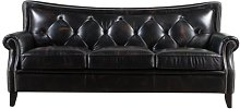 Pennypacker Leather 3 Seater Chesterfield Sofa