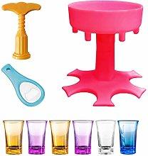 Penta 6 Shot Glass Pourers Holder, Drinks