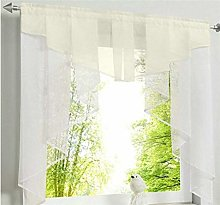 PENVEAT Flying Tulle Kitchen Curtain For Window