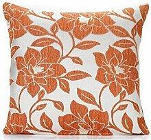 Peony 18' Orange Cushion Cover Bed Sofa