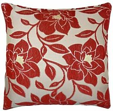 Peony 18' Red Cushion Cover Bed Sofa Accessory