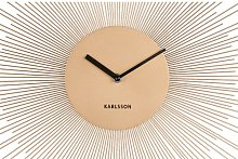 Peony Wall Clock Karlsson Colour: Gold, Size: Small