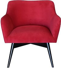 Pepi Armchair Happy Barok Upholstery: Red