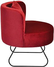 Pepi Tub chair Happy Barok Upholstery: Red