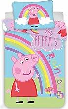 Peppa Pig Baby Reversible Duvet Cover Set Rainbow
