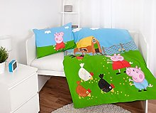 Peppa Pig George Tractor Farm Baby Reversible Bed