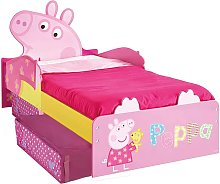 Peppa Pig Toddler Bed with Drawers 140x70 cm Pink