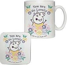 Peppa Pig&Trade; Mummy Pig Floral Mug &Amp; Coaster