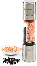 Pepper Grinder, Manual Stainless Steel Two-in-One