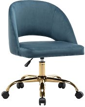 Perales Desk Chair Blue Elephant Upholstery