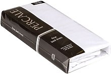 Percale Extra Deep Fitted Sheet, Single, White