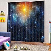 PERFECTPOT Blackout Curtains 3D Starry Sky Digital