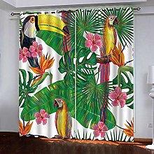 PERFECTPOT Blackout Curtains 3D Tropical Plant,