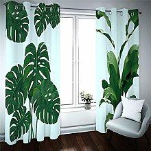 PERFECTPOT Blackout Curtains 3D Tropical Plants